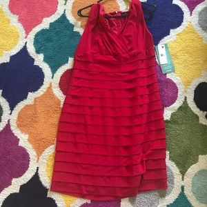 American Living dress red 16 layered work formal